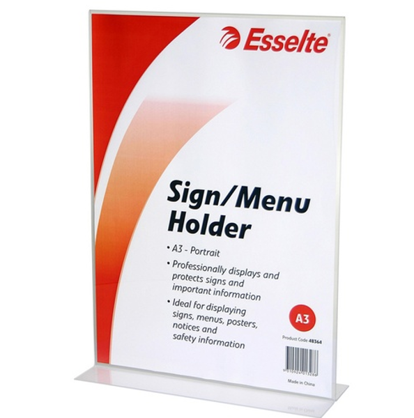 Picture of Esselte A3 2 Sided Portrait  Sign Holder