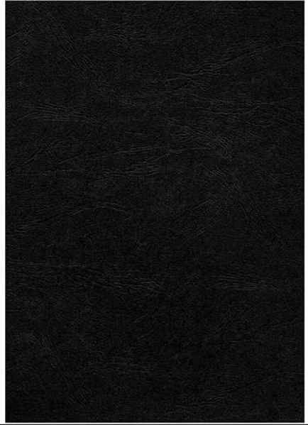 Picture of A4 Leathergrain Binding Cover BLK 100