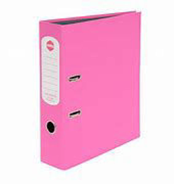 Picture of Lever Arch A4 Pink Marbig Hi-Lites