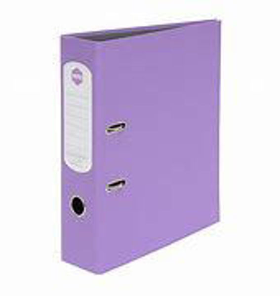 Picture of Lever Arch A4 Purple Marbig Hi-Lites